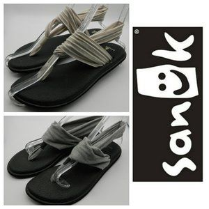 Bundle (2) SANUK Yoga Mat Sling SANDALS 7 Gray Tan